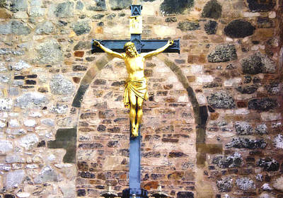 Jesus Christ Painting - Crucified by VRL Art