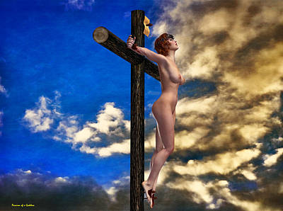 Crucifixion Wall Art - Digital Art - Crucifix And Hope by Ramon Martinez