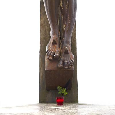 Jesus Photograph - Crucifix by Bernard Jaubert