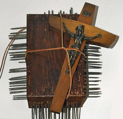 Crucifix Box Art Print