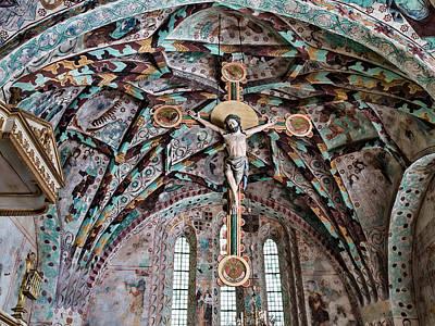 Atonement Photograph - Crucifix Harkeberga Church by Leif Sohlman