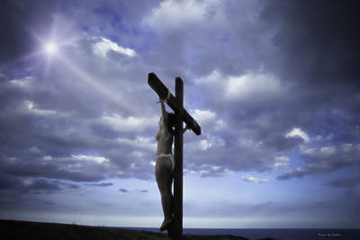 Crucifixion Wall Art - Photograph - Crucifix In The Light by Ramon Martinez