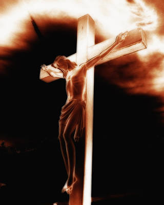 Photograph - Crucifix by Steve Hurt