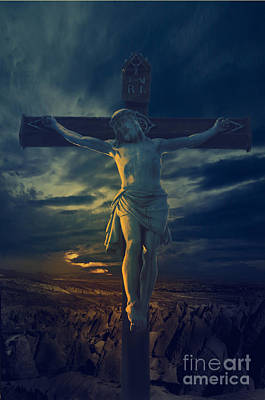 Artistic Digital Art - Crucifixcion by Jelena Jovanovic