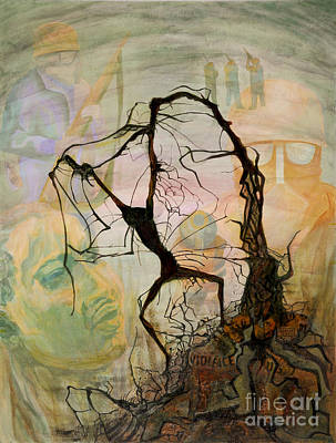 Mixed Media - Crucifixion 1968 - Homage To Martin Luther King by Jessie Parker