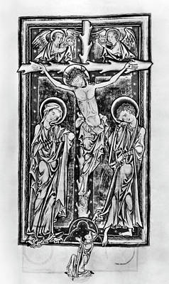 Psalter Painting - Crucifixion, C1250 by Granger