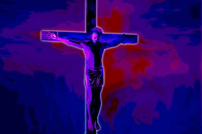 Ascension Digital Art - Crucifixion by Carol and Mike Werner
