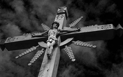 Atonement Photograph - Crucifixion Darkness 2 by David T Wilkinson