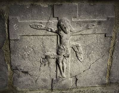 Photograph - Crucifixion Stone At Jerpoint Abbey by Nadalyn Larsen