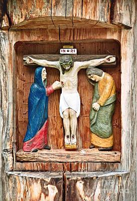 Pyrography - Crucifixion by Gabriele Pomykaj