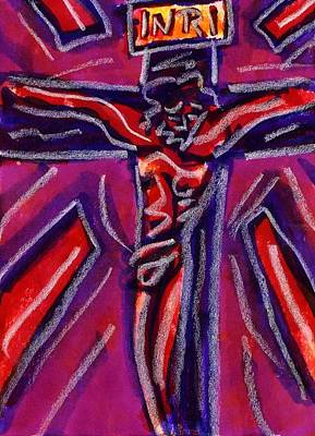 Drawing - Crucifixion II by Rachel Scott