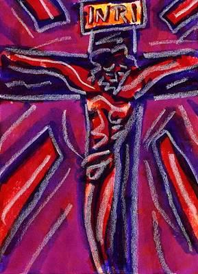 Primitive Drawing - Crucifixion II by Rachel Scott