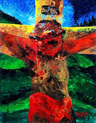 Crucifixion   It Is Finished Art Print by Patricia Brintle