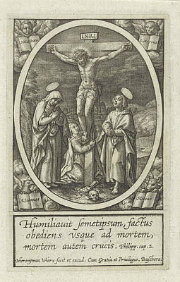 Phils Drawing - Crucifixion Of Christ, Hieronymus Wierix by Hieronymus Wierix