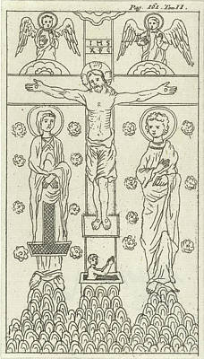 Crucifixion Drawing - Crucifixion Of Christ, Jan Luyken, Hendrick And Dirk Boom by Jan Luyken And Hendrick And Dirk Boom