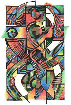 Celtic Cross Drawing - Cruciform Ix by Andy  Mercer