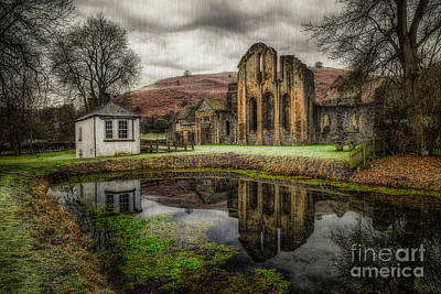Lakes Digital Art - Crucis Abbey by Adrian Evans