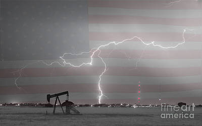 Photograph - Crude Oil And Natural Gas Striking Across America Bwsc by James BO  Insogna