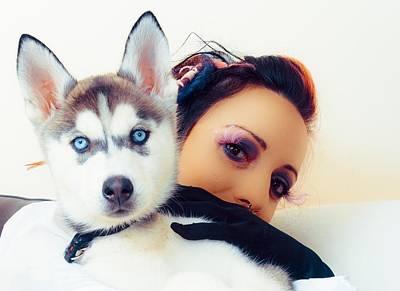 Cruella's Husky Pup Print by K Anthony