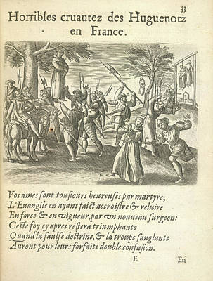 Cruelty Of The Huguenots Art Print by British Library