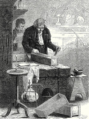 Cruikshank Builds The Battery With Channels Art Print by English School