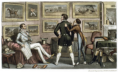 Horse Racing Painting - Cruikshank Tailor, 1820 by Granger