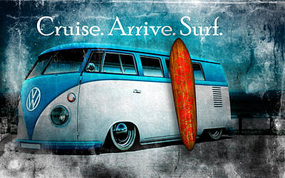 Digital Art - Cruise. Arrive. Surf by Greg Sharpe