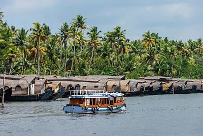 Cruise Boats In Backwaters, Kerala Art Print by Ali Kabas