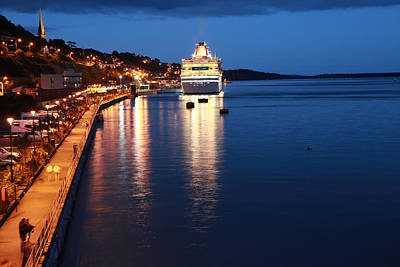 Photograph - Cruise Liner At Cobh Harbour by Maeve O Connell