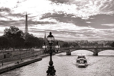 Cruise On The Seine Art Print by Olivier Le Queinec