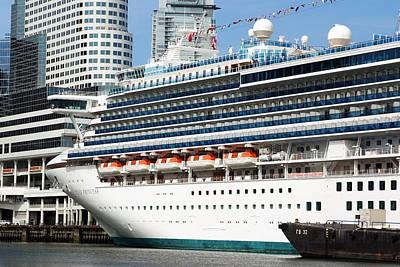 Photograph - Cruise Ship Closeup by Devinder Sangha