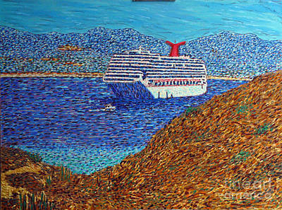 Cruise Ship From Land's End Original
