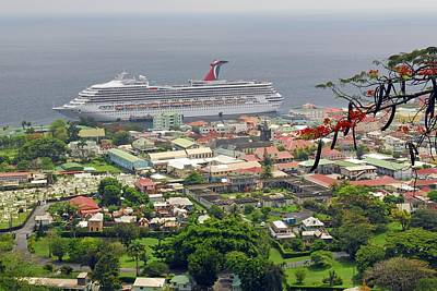 Photograph - Cruise Ship In Dominica by Willie Harper