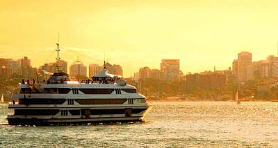 Photograph - Cruise Ship In Evening Light by David Rich