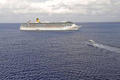 Photograph - Cruise Ship In The Cayman Islands by Willie Harper