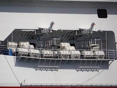 Photograph - Cruise Ship Life Rafts by Keith Stokes