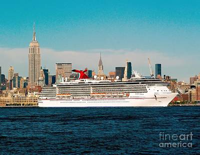 Photograph - Cruise Ship On The Hudson by Nick Zelinsky