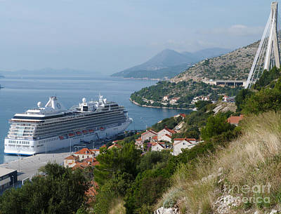 Photograph - Cruise Ship Riviera - Dubrovnik by Phil Banks