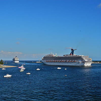 Photograph - Cruise Ships Departing Ft. Lauderdale by Kirsten Giving