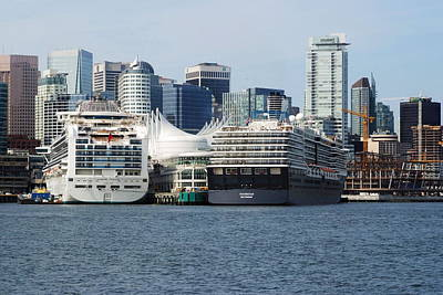 Photograph - Cruise Ships by Devinder Sangha