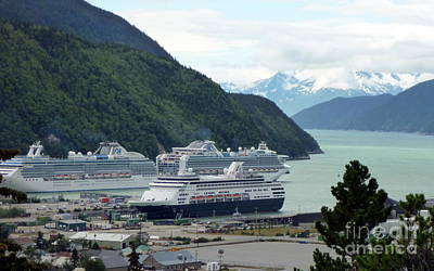 Photograph - Cruise Ships Moored by John Potts
