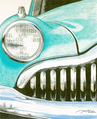 Buick Drawing - Cruiser by Rick Yost