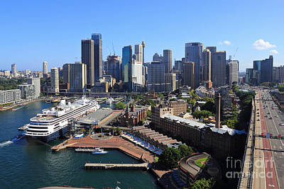 Photograph - Cruiser Ship In Sydney by Jola Martysz
