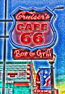 Photograph - Cruiser's Cafe 66 By Diana Sainz by Diana Raquel Sainz