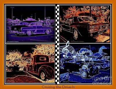 Photograph - Cruising Collage by Bobbee Rickard