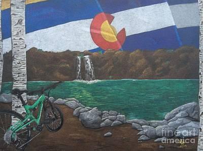 Mountain Biking Drawing - Cruising Colorado by Ambre Wallitsch