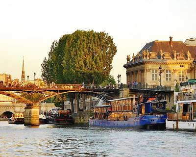Skyline Photograph - Cruising Down The Seine by David Lobos