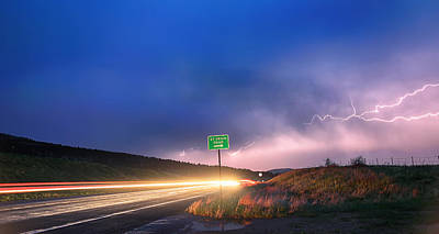 Photograph - Cruising Highway 36 Into The Storm by James BO  Insogna