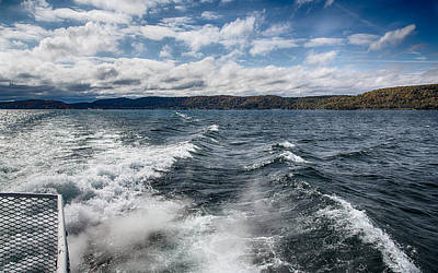 Clouds Photograph - Cruising Lake Superior by John M Bailey