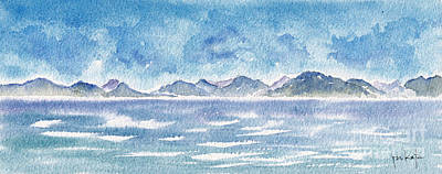 Caribbean Sea Painting - Cruising Past Cuba by Pat Katz